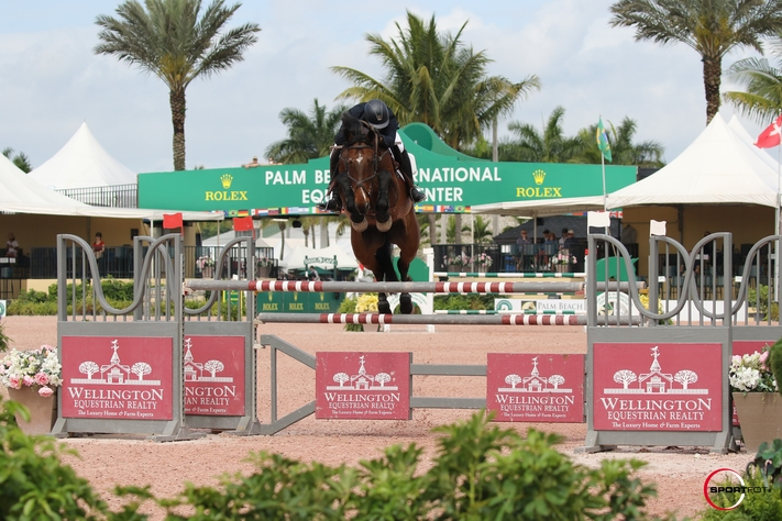 20/03/2019 ; Wellington FL ; Winter Equestrian Festival - Week 11 ; 7326, CHAGRAND, MICHAEL BURNETT ; open jumper 1.45m ; Sportfot